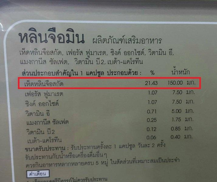เห็ดหลินจือแดง-ผลิตภัณฑ์ชนิดแคปซูล-หลินจือมิน-ราคา