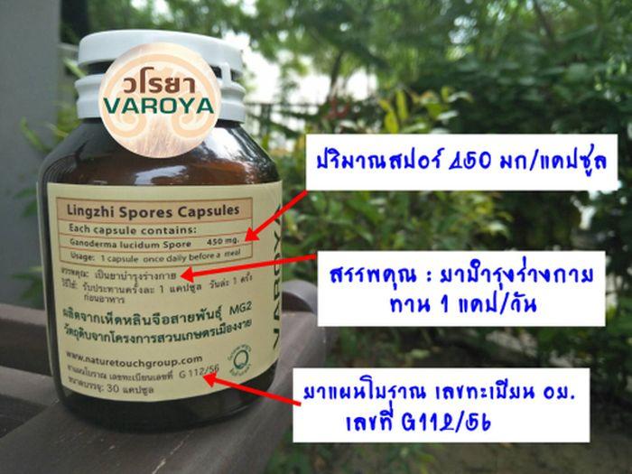 ผลิตภัณฑ์-วโรยา-สปอร์เห็ดหลินจือ-varoya